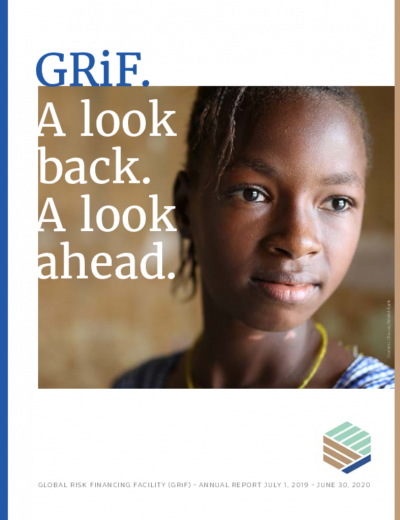 Global Risk Financing Facility (GRiF) Annual Report 2020