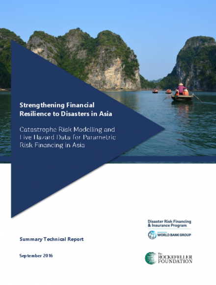 Catastrophe Risk Modelling and Live Hazard Data for Parametric Risk Financing in Asia