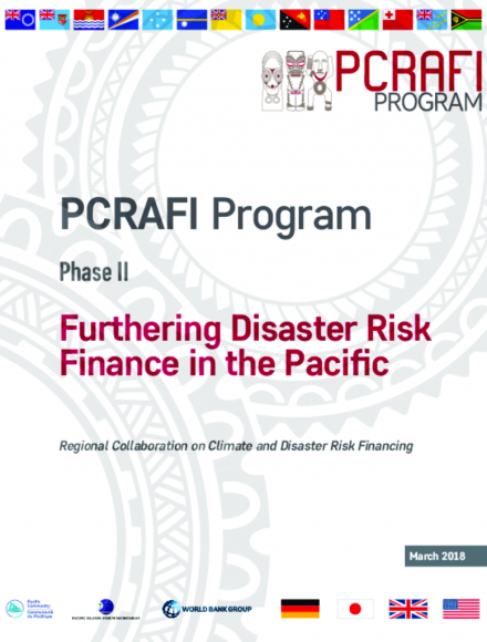 Booklet: PCRAFI Program - Phase II: Furthering Disaster Risk Finance in the Pacific (2016-21)