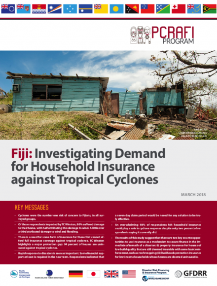 Fiji: Investigating Demand for Household Insurance against Tropical Cyclones