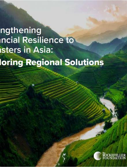 Strengthening Financial Resilience to Disasters in Asia: Exploring Regional Solutions