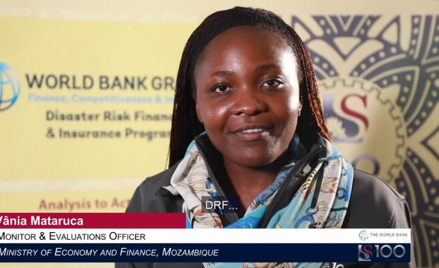 Vânia Mataruca: Disaster Risk Financing in Mozambique