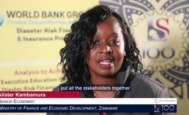 Alister Kambamura: Disaster Risk Financing in Zimbabwe