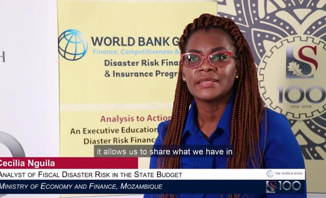 Cecilia Nguila: Knowledge Sharing in Disaster Risk Financing is Crucially Important