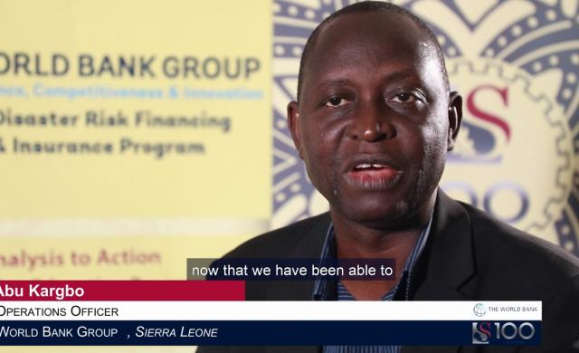 Abu Kargbo: Financial Instruments for Disaster Risk Reduction and Resilience