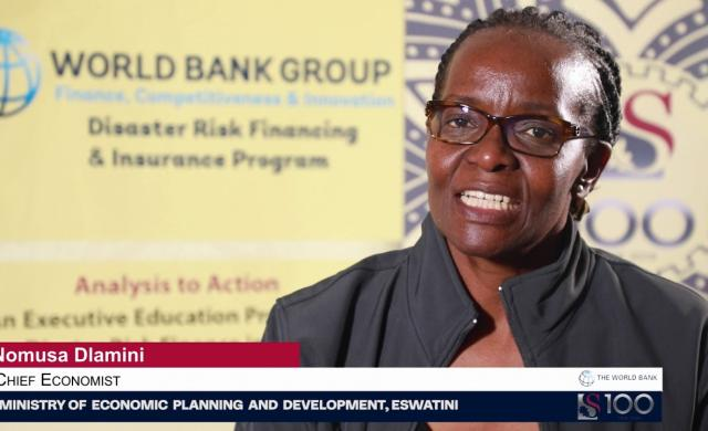 Nomusa Dlamini: Knowledge Exchange on Disaster Risk Financing