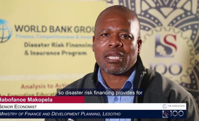 Habofanoe Makopela: Disaster Risk Financing in Lesotho